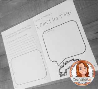 My Monster Has A {Growth} Mindset booklet for grades 2-5. www.counselorup.com