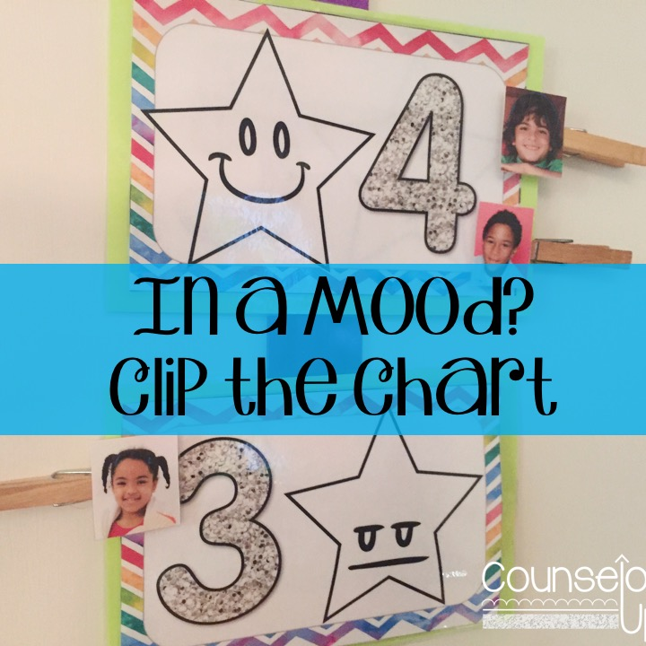 Star Mood Clip Chart on counselorup.com. Check in with students to see how they are feeling today.