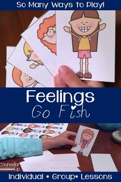 I'm always looking for ideas that I can create ahead of time and grab in the moment. I want it to be quick but meaningful and ready for use. Enter Feelings Go Fish - print on cardstock, laminate, and get ready to use over and over.