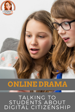 Online Drama - how to talk to your students about digital citizenship. Stop cyber bullying before it happens.