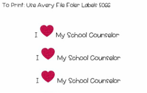 I Heart My School Counselor Sticker Freebie www.counselorup.com