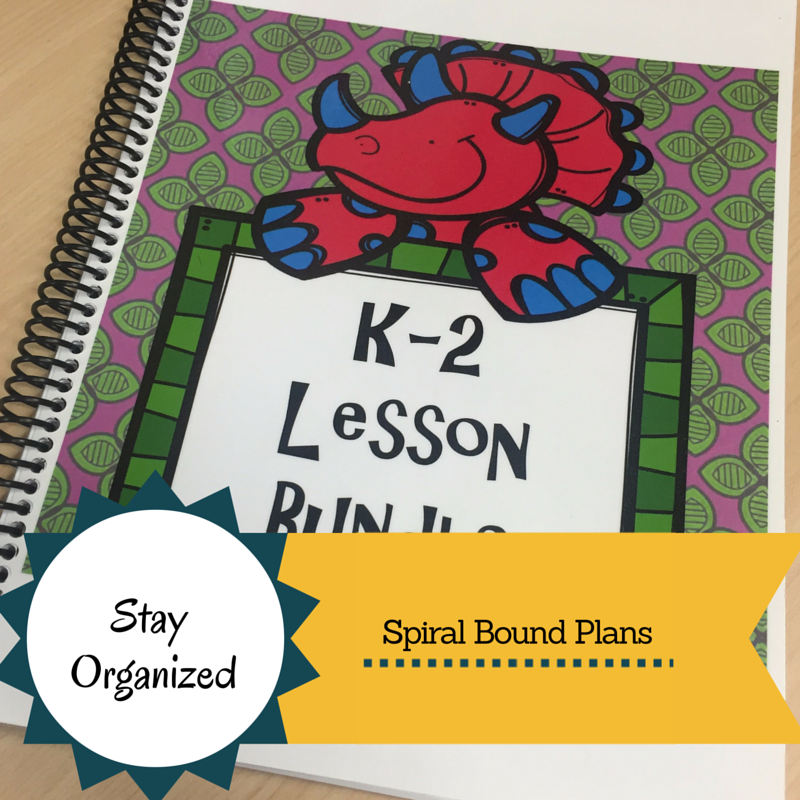 Stay Organized: Spiral Bound Lesson Plans at www.counselorup.com