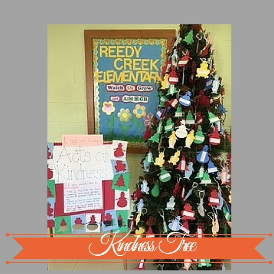 Kindness Tree - spreading kindness throughout the school all through the year. www.counselorup.com