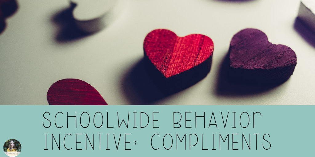 Lots of people think PBIS and they think tickets/dollars/dojos with school stores and big huge individual reinforcement initiatives.   Guess what? Nobody has time for that. I mean, I guess they do, but I was never up for it. At the schools where I've worked, we've implemented Class Compliments.