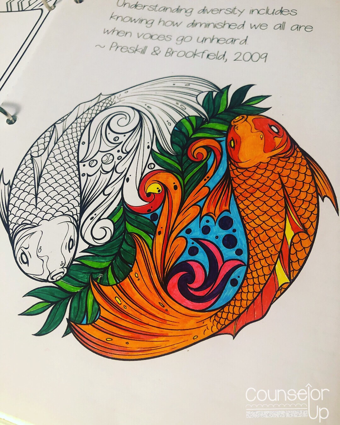 Counselor Planner 2016-17 The entire planner has lots of doodling and art areas including mandala coloring pages with quotes. Helps when you're sitting in those super long staff meetings! www.counselorup.com
