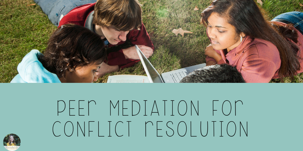 Resolving conflicts with others may be life's greatest social emotional skill. Avoiding conflict, seeking conflict, mishandling conflict is tough for many an adult (raises hand).  Peer Mediation is not easier than handling it yourself. But it is valuable. It empowers your mediators as leaders but it also empowers the students resolving conflict to seek help from peers and to handle this tough thing.