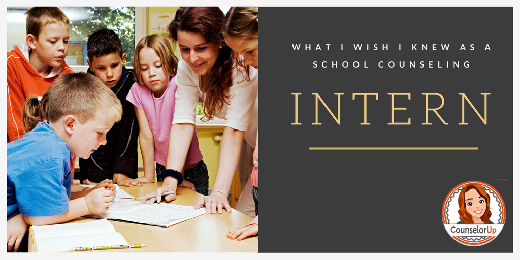 What I wish I knew as a School Counseling Intern www.counselorup.com